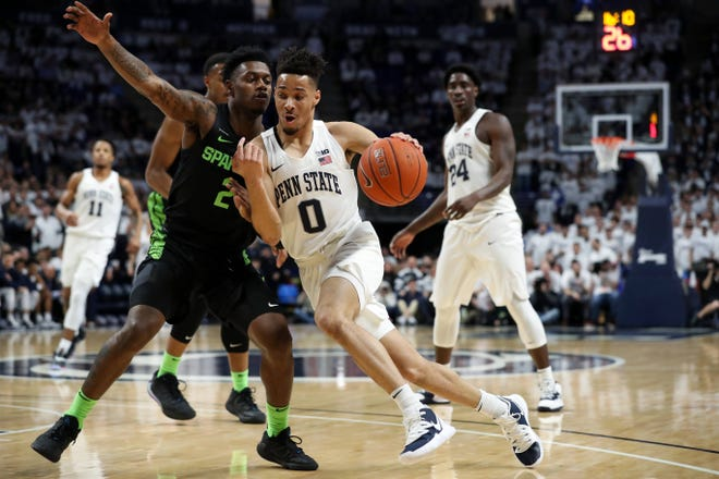 Penn State guard Myreon Jones against Michigan State in March 2020.