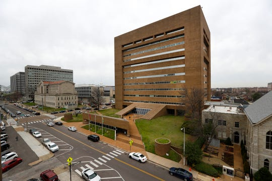 The Walter L. Bailey Jr. Shelby County Criminal Justice Center at 201 Poplar Avenue.
