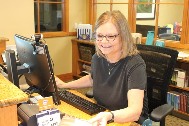 Circulation Director Brenda Knight has worked at the Baxter County Library for 20 years.