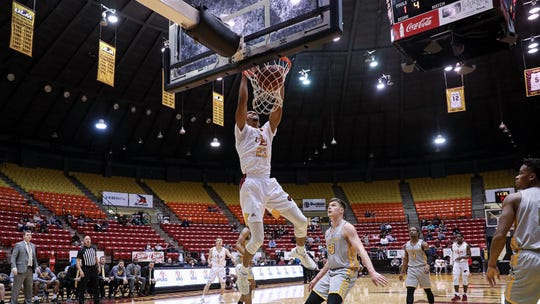 Appalachian State defeated ULM 61-57 in Tuesday night's season finale at Fant-Ewing Coliseum. The Warhawks missed the Sun Belt Conference Tournament.