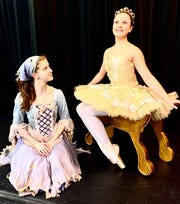 Emily Efferson, left, and Savannah Golden share the role of Cinderella with Alabama Dance Theatre.