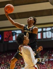 Mar 3, 2020; Tuscaloosa, Alabama, USA; Vanderbilt Commodores guard Saben Lee (0) drives to the basket against Alabama Crimson Tide forward Herbert Jones (1) during the first half at Coleman Coliseum. Mandatory Credit: Marvin Gentry-USA TODAY Sports