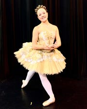 Savannah Golden performs as Cinderella in this weekend's Alabama Dance Theatre production.