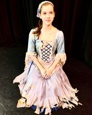 Emily Efferson performs as Cinderella in this weekend's Alabama Dance Theatre production.