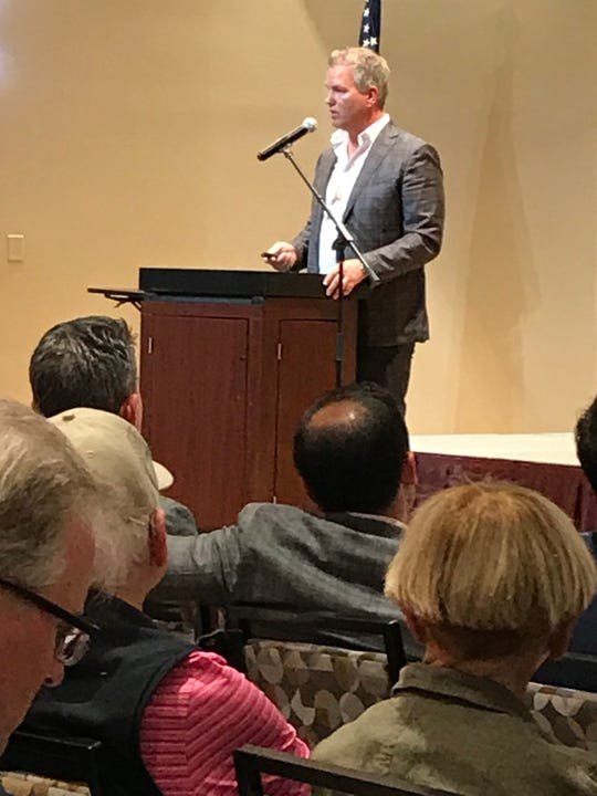 Brian Stock, CEO of Stock Development, talks about his One Naples project at a Neighborhood Information Meeting March 3, 2020.