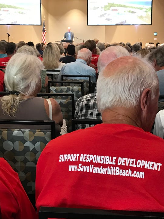 North Naples residents turned out in force to oppose the One Naples project at a Neighborhood Information Meeting March 3, 2020.