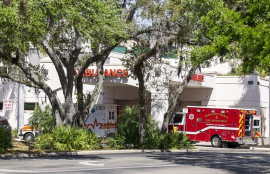 The emergency room at Doctor's Hospital in Sarasota.