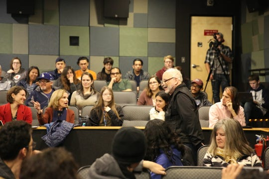 Academy Award winner Richard Dreyfuss speaks to New Mexico State University students on Tuesday.