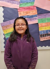 """White Mountain Elementary school """"Student Of The Month"""" Sierra Ahidle."""