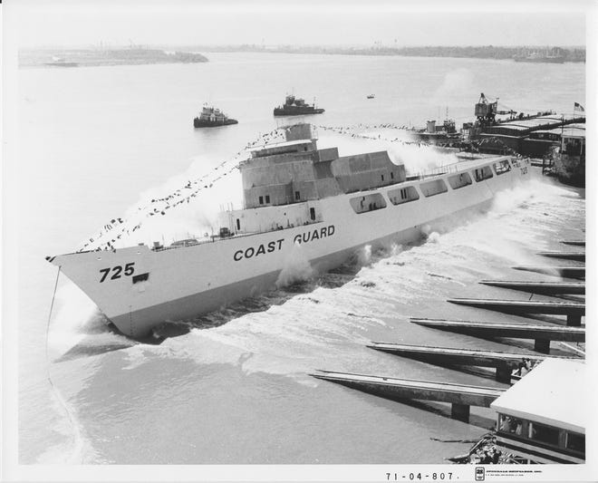 """The USCGC Jarvis and its crew survived a storm off the coast of Alaska in 1972. Its story is detailed in the book """"All Present and Accounted For: The 1972 Alaska Grounding of the U.S. Coast Guard Cutter Jarvis and the Heroic Efforts that Saved the Ship"""" by Steven Craig."""