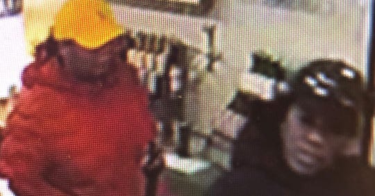 Police are searching for two black females after they allegedly stole credit cards from a downtown Marine City business on Feb. 29.