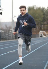 John Jay winter track team member Kieran Allen on March 3, 2020.