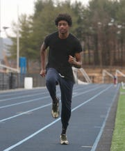 John Jay winter track team member Ja'Lil Reynolds on March 3, 2020.