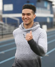 John Jay winter track team member Jonathan Mahon on March 3, 2020.