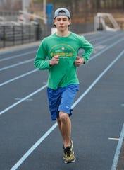 John Jay winter track team memberPatrick Cullen on March 3, 2020.