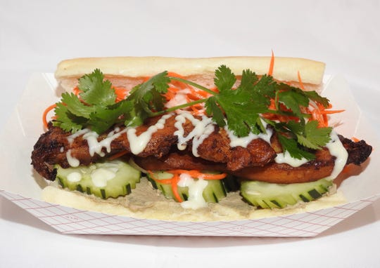 Vietnamese-style banh mi from the Asian Street Eats food truck of Reno include a traditional slab of chicken liver pâté.