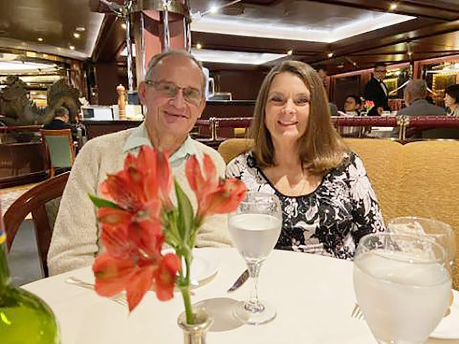 Peter and Cindy Molesky, of Rome, set sail from Japan on a Diamond Princess cruise ship on Jan. 20. After their 15-day cruise ended, they went into quarantine, first on the ship and then at Lackland Air Force Base in Texas. Their quarantine ended Tuesday, March 3.
