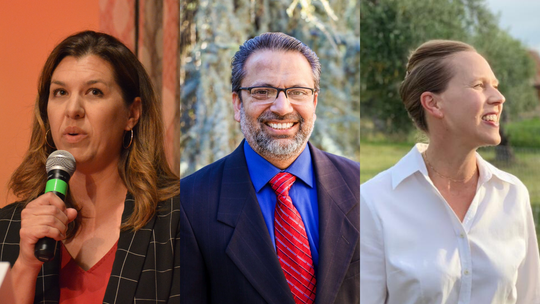 Republican state Assemblywoman Megan Dahle faces challengers Paul Dhanuka (who has no party affiliation) and Democrat Elizabeth Betancourt in the March primary.