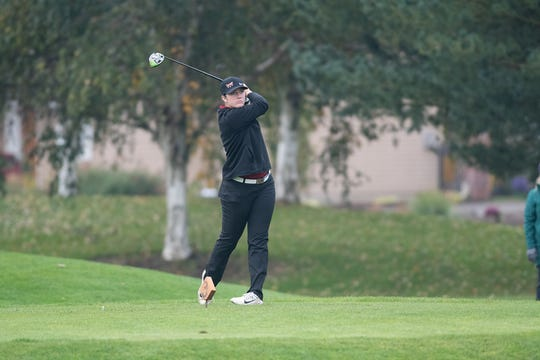 Golf: Willamette University competes at the Northwest Conference Fall Classic in Woodburn, Oregon on October 13, 2019. Pictured: Lexi Towner (Photo: Christopher Sabato/Willamette University)