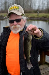 Julio Cortez of Oregon City, a longtime angler at St. Louis Ponds, scored a largemouth bass on March 1.