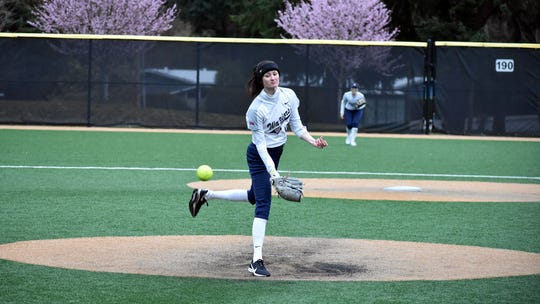 Ally Crakes threw the school's fifth no-hitter over the weekend.