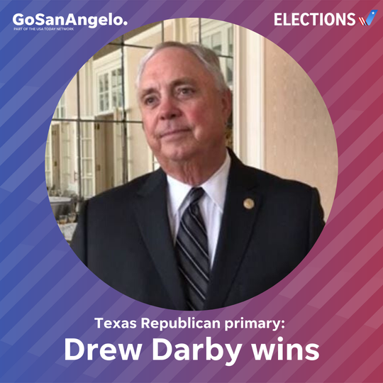 Drew Darby wins the March 3, 2020 Texas Republican primary.