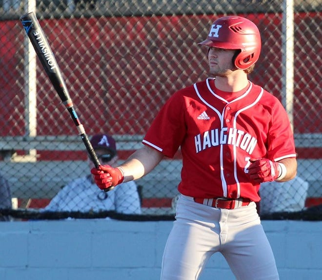 Haughton's Peyton Stovall has been on a roll with four homers in the past four games.