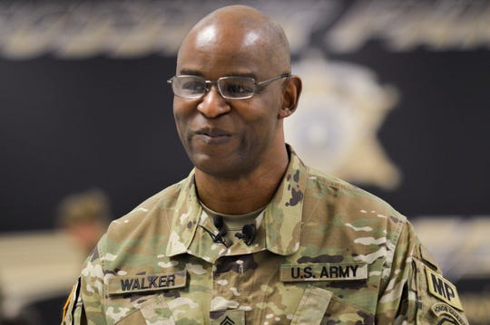 Verdis Walker was honored in a ceremony on Wednesday, March 4, 2020, for his recent prometon to Command Sergeant Major in the Louisiana National Guard.