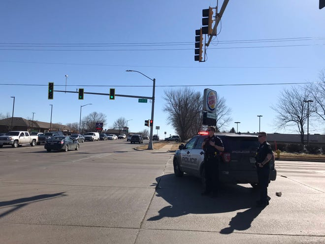 Police blocked 26th Street at Sycamore Avenue in eastern Sioux Falls on Wednesday afternoon.