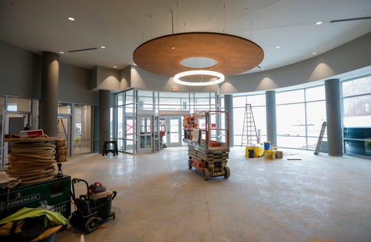 A look at the main lobby at the Ozarks Technical Community College's new center in Republic on Wednesday, March, 4, 2020.
