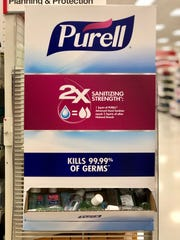 There were still a few bottles of hand sanitizer at the Waynesboro Target on March 3.