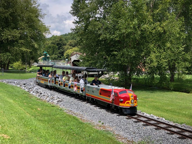 The Gypsy Hill Express, a mini-train in Staunton's Gypsy Hill Park.