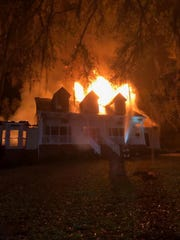 No one was injured after the residents of a Lake Iamonia Drive home were evacuated as the structure went up in flames Tuesday night.