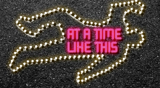 "Palaver Tree Theater Company in Crawfordville is staging ""At A Time Like This,"" a dark comedy about modern struggles, failure, celebrity, race, and depravity March 6-8."