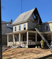 Millville firefighters battled a two-alarm fire at a residence in the 300 block of Mulberry Street on  March 4, 2020.