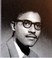 This is a photo of Clarence Branch during his senior year at Tennesse State University.