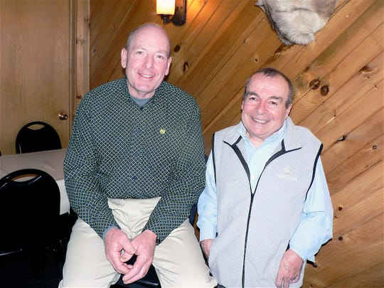 """John Erbsen, left, and Norm Nabholz  told the """"Apple"""" story."""