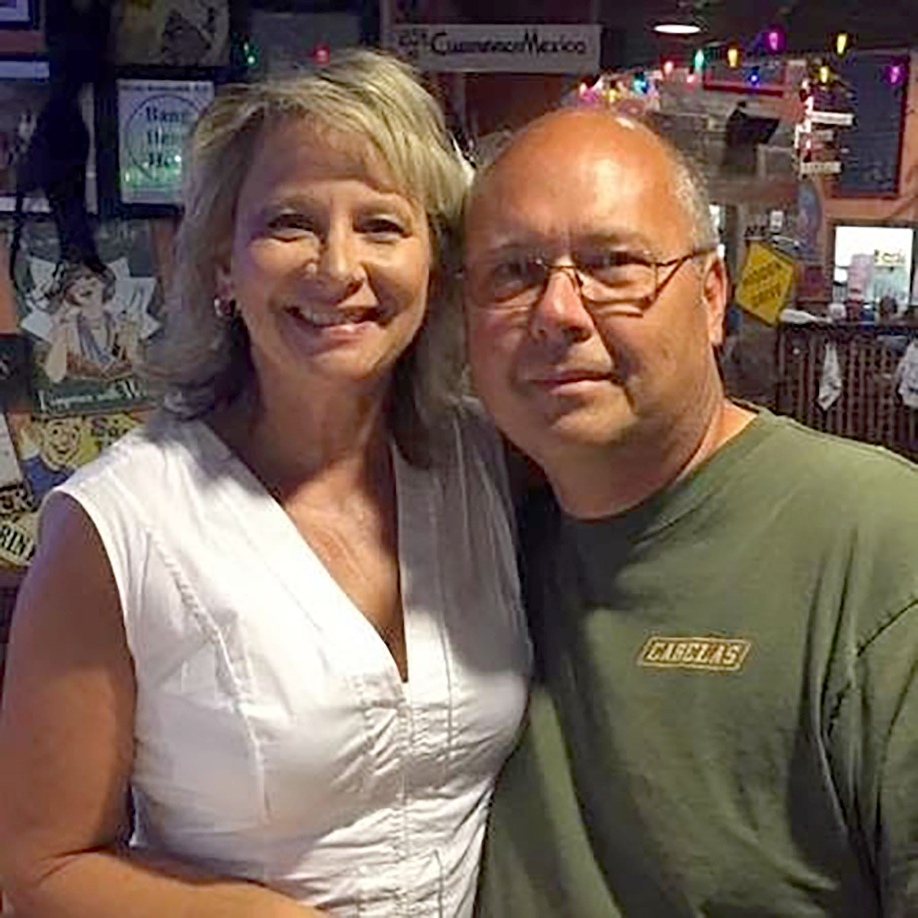 Theresia Gillie's husband, Keith, died by suicide in April 2017 at the age of 53. This photo of the couple, who were married in 1984, was taken in July 2016 at Dick's Last Resort restaurant at the Mall of America in Minneapolis. Gillie family photo.