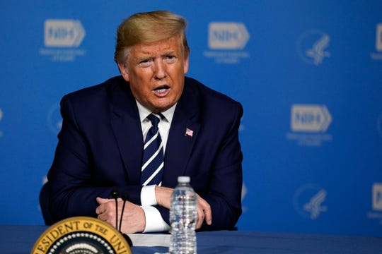 President Donald Trump at coronavirus briefing in Bethesda, Maryland, on Mar. 3, 2020.