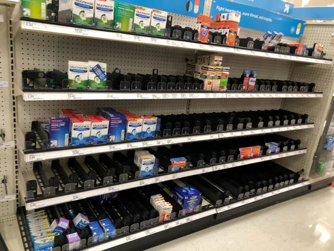 A Target in Woodinville, Washington was out of stock on several items as people try to stock up in preparing for the coronavirus.