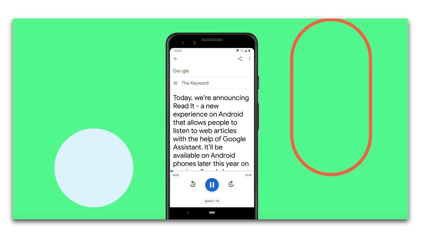 Google Assistant to read web pages aloud on some devices