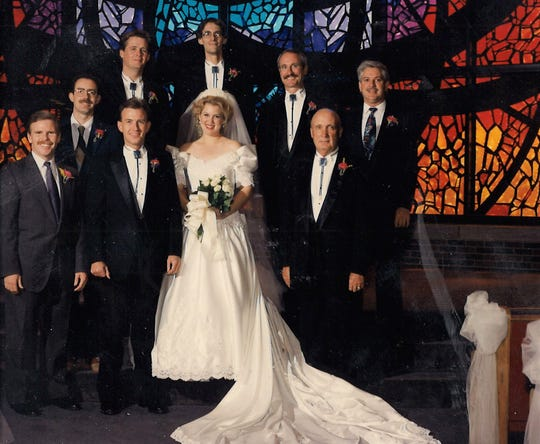 Back when none of us were teenagers, Stanley Whisenhunt, lower right, accepted our request to be in our wedding in October 1993.