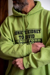 David Darkey from Bellevue, Mich. sits for a portrait on Thursday, March 5, 2020. Darkey, who has kidney failure and is on dialysis, has been on a quest to find a kidney match since in 2009.