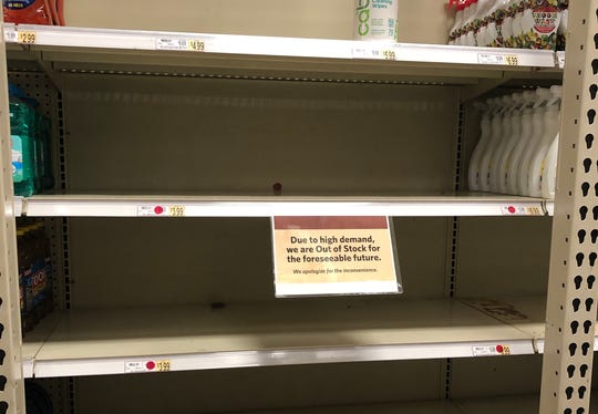 Wegmans in Johnson City, NY, was out of hand sanitizer on March 5, as preparations for coronavirus heat up in New York.