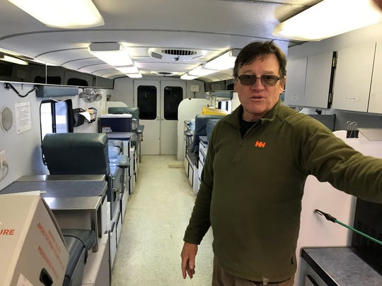 Reese Alsop says the Vermont Red Cross has spent more than $140,000 fixing the bloodmobile over the years.