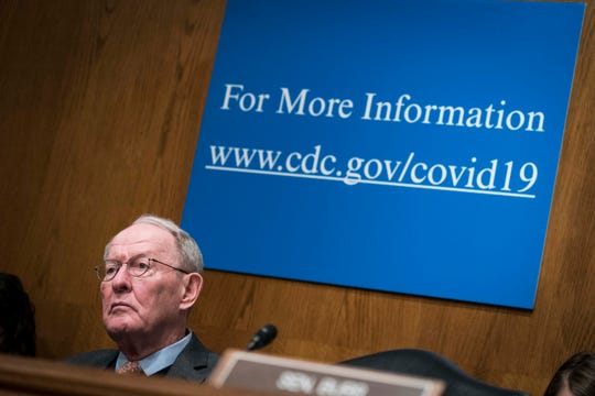 """WASHINGTON, DC - MARCH 03:  U.S. Sen. Lamar Alexander (R-TN) listens during the Senate Health, Education, Labor and Pensions Committee hearing on """"An Emerging Disease Threat: How the U.S. Is Responding to COVID-19, the Novel Coronavirus"""" on March 3, 2020 in Washington, DC."""