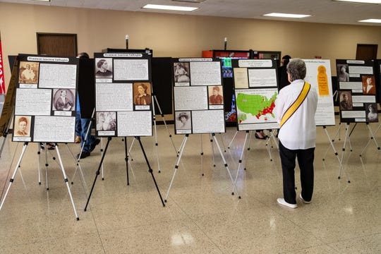 The League of Women Voters of Corpus Christi's history of women and voting display was unveiled at the Nueces County Courthouse for the month of March.