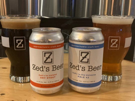 Zed's gold-medal winning beers include Zed's in Ireland (dry stout, left) and Zed's in the Universe (Pale 42).