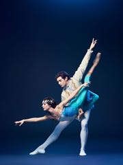 """Cincinnati Ballet Second Company dancers Catherine Lasak and Thomas Curran are seen in a scene from the company's presentation of """"Snow White."""" Next season's Family Series ballet will be """"The Little Mermaid,"""" Feb. 25-28 at the Aronoff Center."""