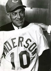 October 9, 1969: Sparky Anderson is introduced as the new Reds manager, No. 10.